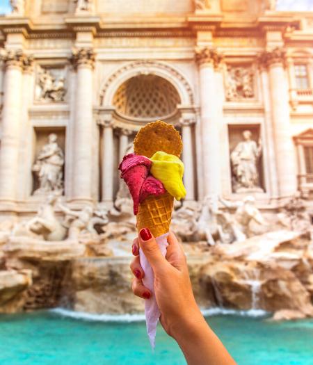 мороженое в Риме, джелато, gelato Rome Italy
